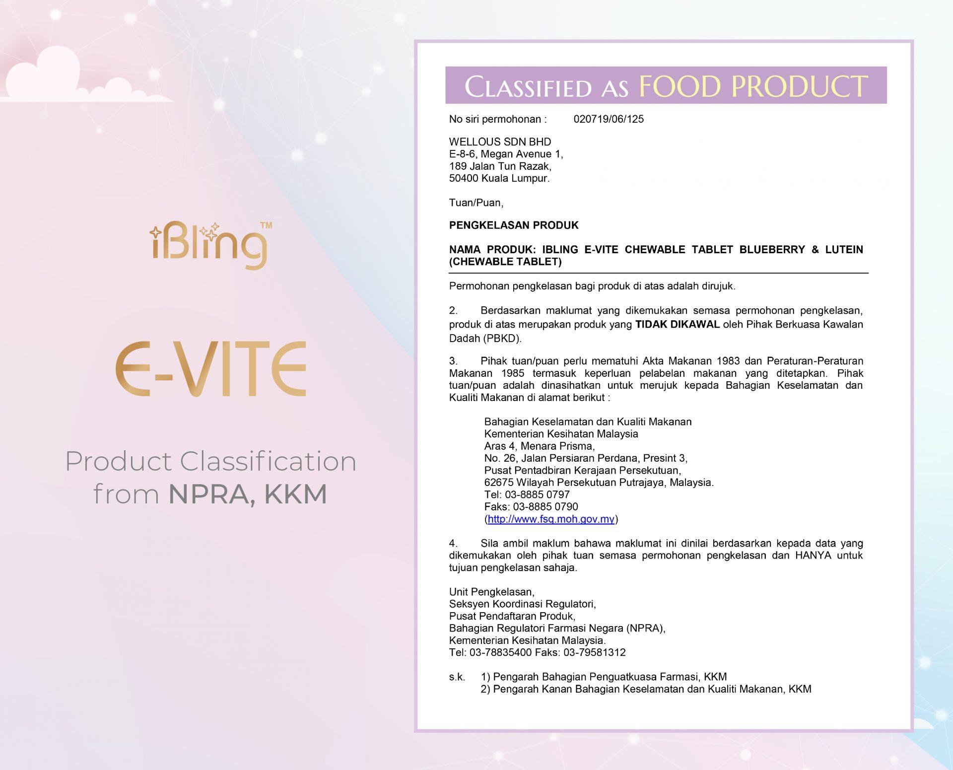E-VITE_certificate_Food Classification_ENG