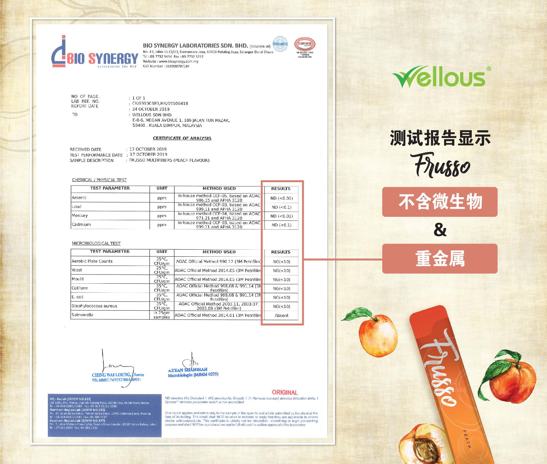 Frusso_COA (No Heavy Metals No Microbes)_peach_CN